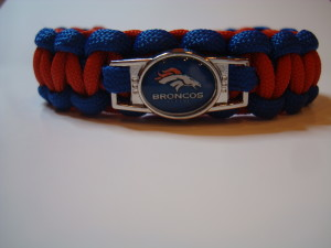 Royal Blue outside, Scarlet Red inside with Denver Broncos Charm